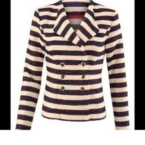 Cabi Cruise Jacket, navy, red and cream